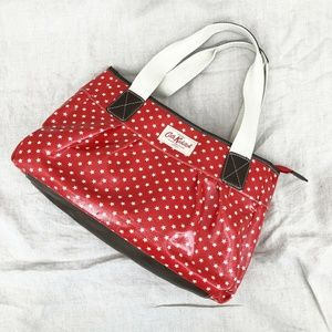 CATH KIDSTON London Red Star Oilcloth Bag Leather